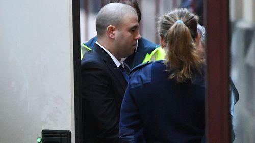 Sasa Jovic arrives at the Supreme Court today.