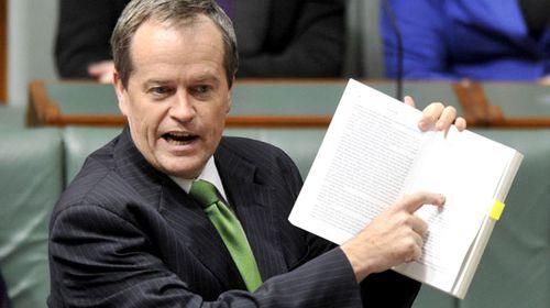 Bill Shorten in parliament. (AAP)