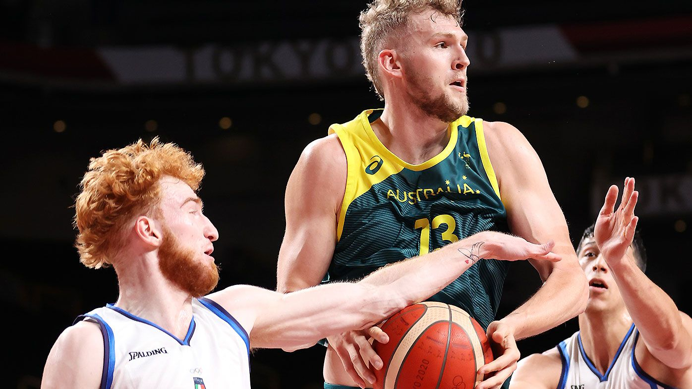 Tokyo Olympics: Jock Landale and Nick Kay press NBA claims as Boomers survive scare against Italy
