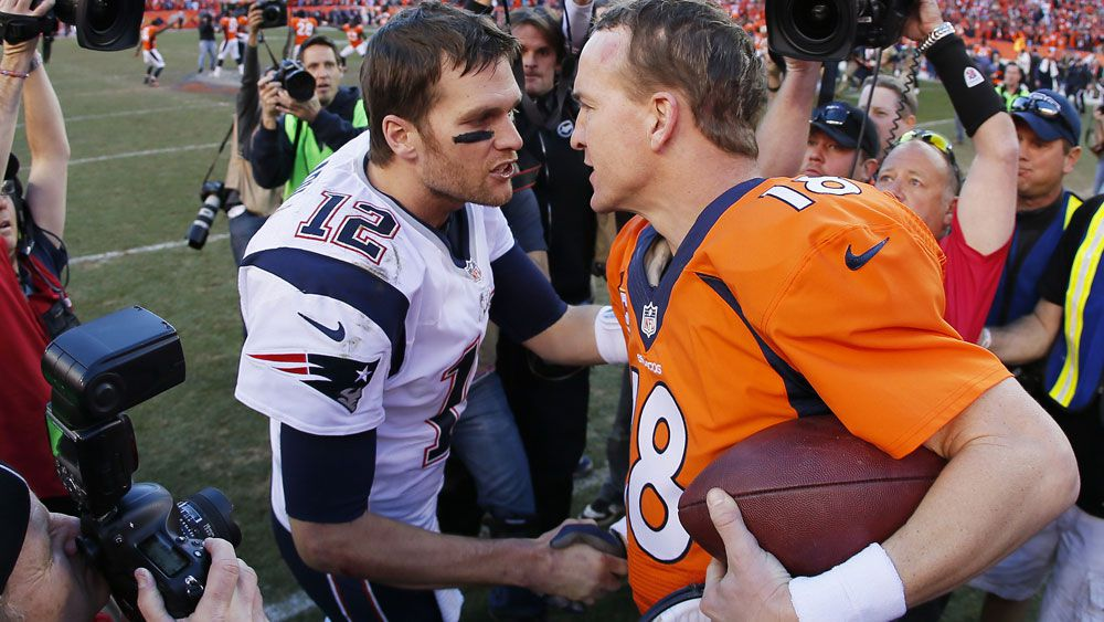 Tom Brady and Peyton Manning. (AFP)