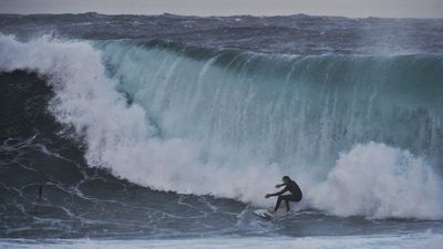Surfers tackle giant swell