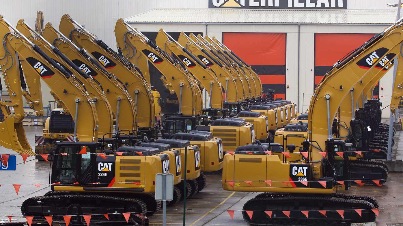 Caterpillar machinery.