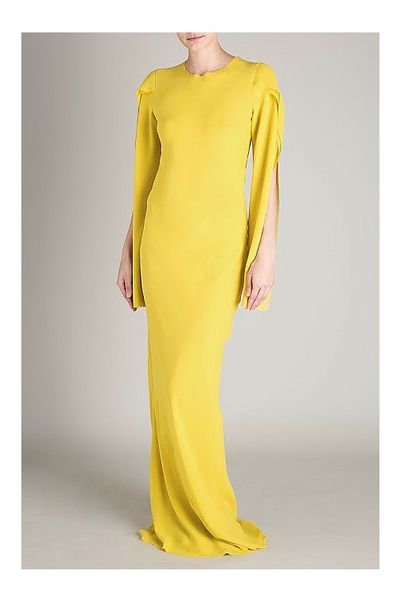 """<a href=""""https://www.shopbop.com/collared-dress-red-valentino/vp/v=1/1517363798.htm?folderID=2534374302063659&fm=other-shopbysize-viewall&os=false&colorId=10908"""" target=""""_blank"""">Bianca Spender</a> silk gown, $795<br />"""
