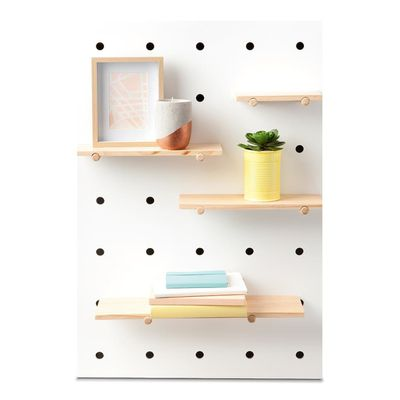 "<a href=""http://www.kmart.com.au/product/pegboard-with-wooden-shelves/806995"" target=""_blank"" draggable=""false"">Kmart Pegboard with Wooden Shelves, $29.</a>"