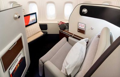 Qantas' upgraded A380 aircraft First Class Suite