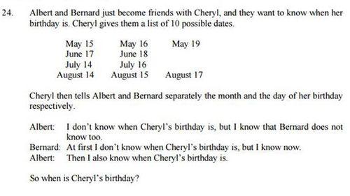Cheryl, you tease. (Facebook).