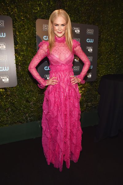 Actress  Nicole Kidman at the 23rd Annual Critics' Choice Awards in California, January, 2018
