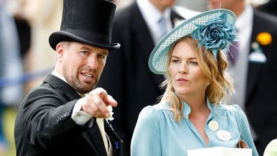 Peter Phillips and Autumn Phillips attend day five of Royal Ascot at Ascot Racecourse on June 22, 2019