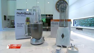 Nutribullet a fost testat împotriva Kmart Anko Drink Bottle Blender.  (A Current Affair ) clona