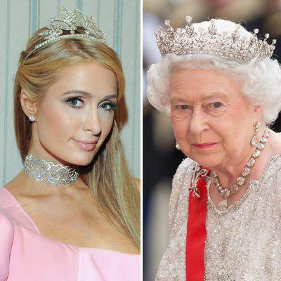Paris Hilton and Queen Elizabeth