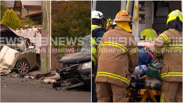 "Police say man ""extremely lucky"" to be alive after causing a multi-car smash in Geelong."