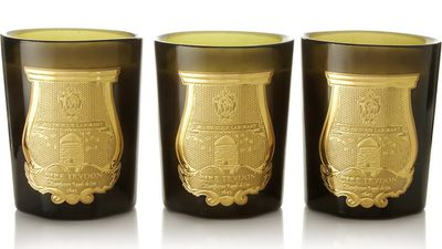 "<a href=""http://www.net-a-porter.com/product/467804/Cire_Trudon/odeurs-royales-set-of-three-scented-candles"" target=""_blank"">Odeurs Royales set of three scented candles, $176.55, Cire Trudon</a>"