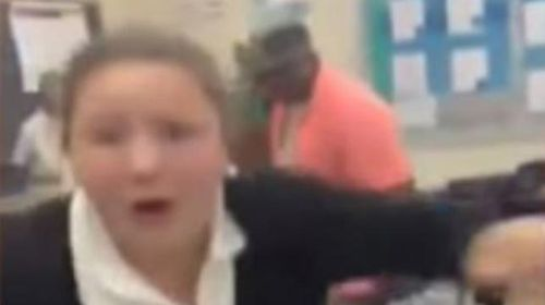US substitute teacher filmed whipping students with belt