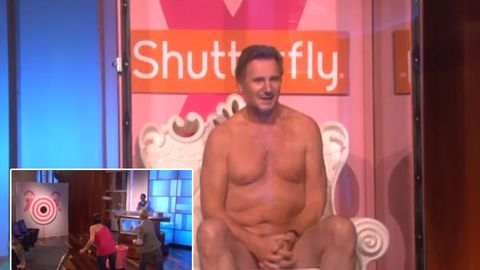 Watch: Liam Neeson strips down for cancer research