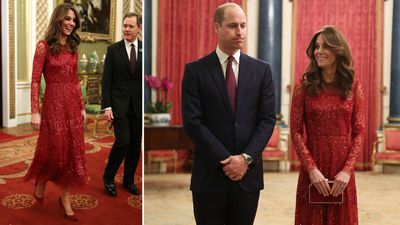 Kate Middleton co-hosts palace reception, January 2020