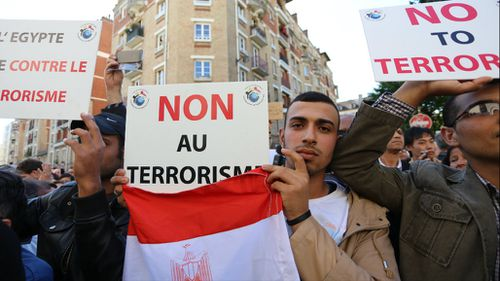 'We are the French too': Muslims denounce ISIL in Paris rally