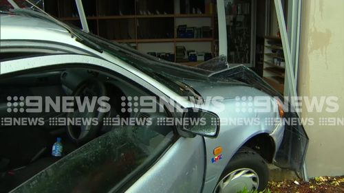 The driver and occupants were lucky to escape unscathed. (9NEWS)