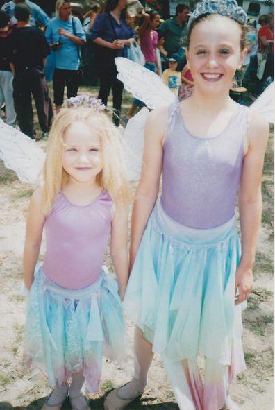 Tania and sister Gemma Burgess