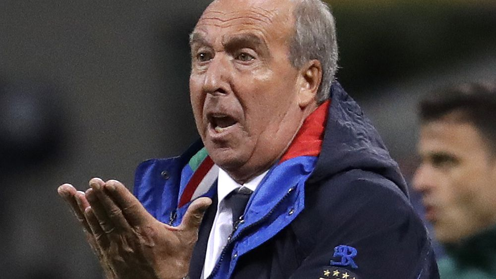 World Cup 2018: Italy coach Ventura 'removed from post' after failure to qualify for Russia