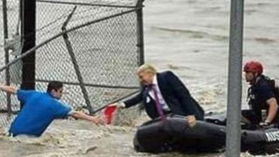Fake Trump photo goes viral again after Hurricane Florence