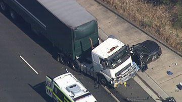 M5 truck crash