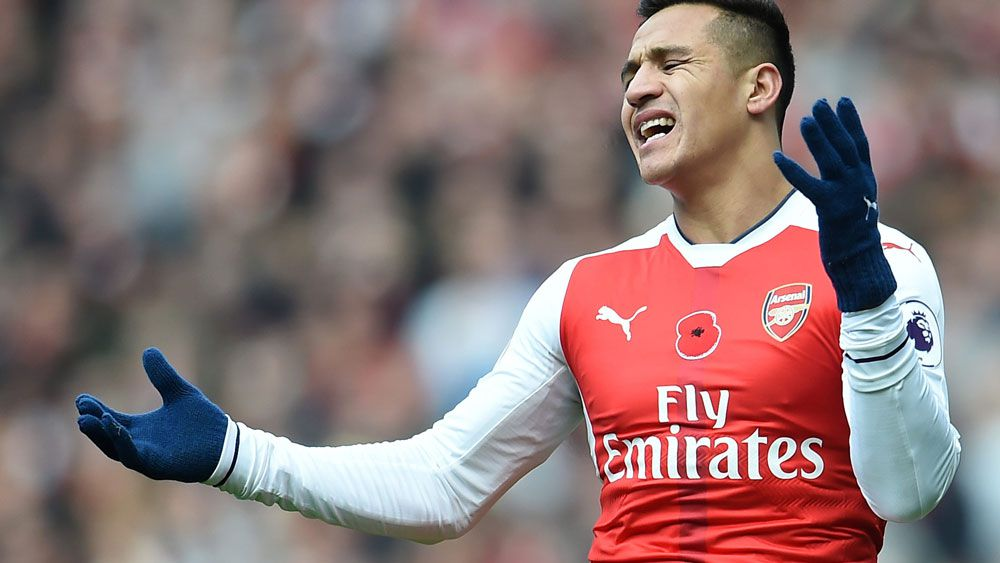 Alexis Sanchez is facing time on the sidelines. (AAP)