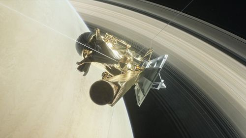 An artist's rendering of Cassini. (NASA)
