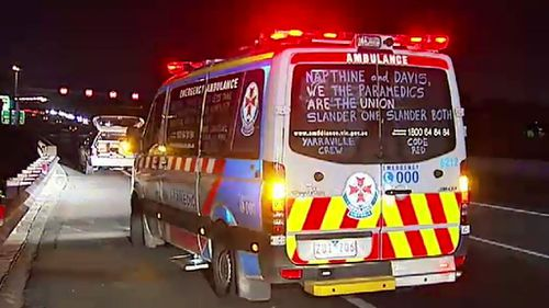 """Victorian Labor says if elected they will end the """"war on paramedics"""". (9NEWS)"""