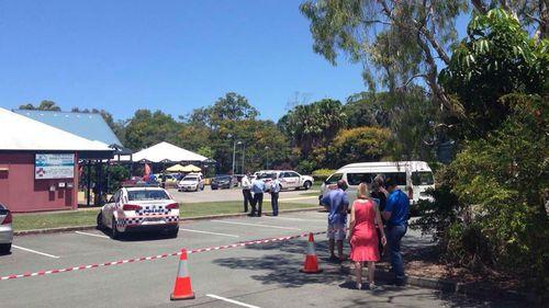 Police cordoned off the scene. (Corinne May/WIN Sunshine Coast)