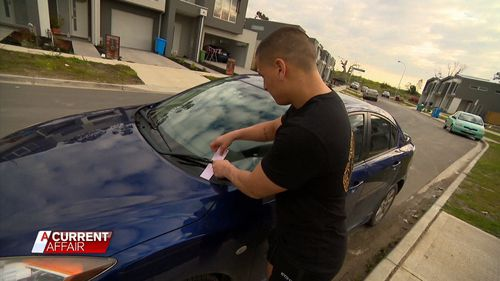 The residents on Willow Glen Boulevard in Cranbourne were fined up to hundreds of dollars for parking in 'no stopping' zones because the estate's own parking areas were too occupied.