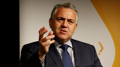 "Treasurer Joe Hockey, speaking at the G20 finance leaders meeting. He told the court he was ""devastated"" by the Fairfax stories. (AAP)"
