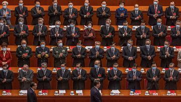 Chinese President Xi Jinping at the closing session of the National People's Congress in Beijing.