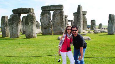 Travel couple dating marriage Stone Henge