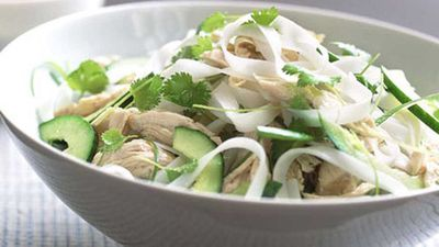 <strong>Bang bang chicken and rice stick noodle salad</strong>