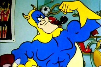 <B>Ran from:</B> 1983 to 1986<br/><br/><br/><B>Why it's awesome:</B> When Eric Wimp eats a banana he is transformed into Bananaman, a powerful superhero with appropriate superpowers. Sometimes it's the stupidest shows that are the most fun &#151; even though there was always something vaguely creepy about this one.