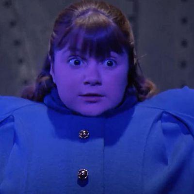 Denise Nickerson as Violet Beauregarde: Then