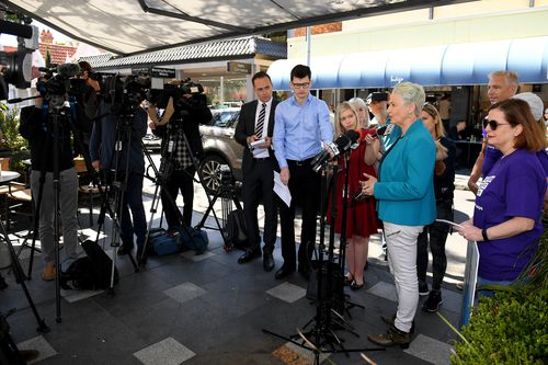 Dr Phelps holds a press conference in Sydney today.
