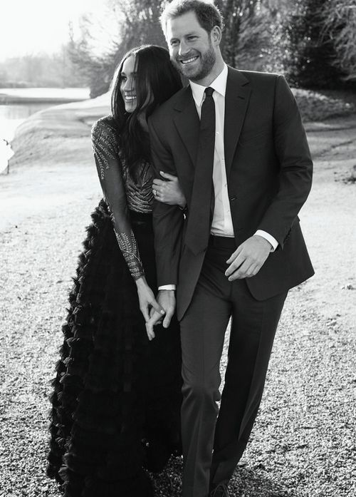 The photograph may have been taken at the same time as their engagement photographs. (Alexi Lubomirski)