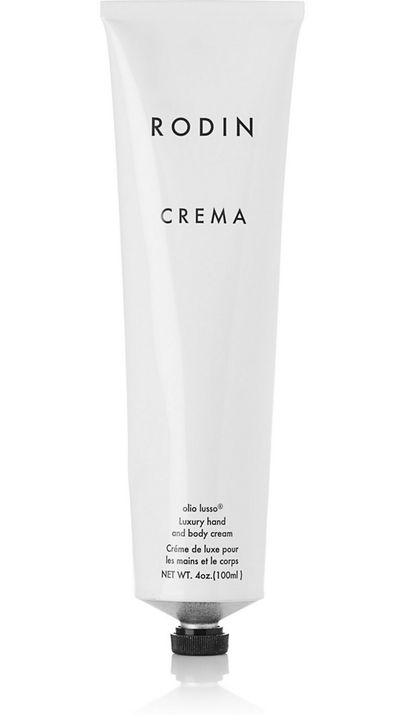 """<a href=""""http://www.net-a-porter.com/product/338574/Rodin/luxury-hand-and-body-cream-100ml"""" target=""""_blank"""">Luxury Hand and Body Cream, $110, Rodin</a>"""