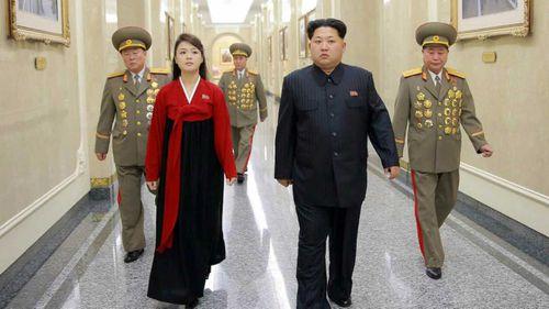 Kim Jong-un and his wife Ri Sol-ju. (AAP)