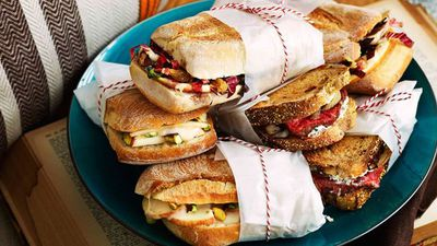 "Recipe: <a href=""http://kitchen.nine.com.au/2016/05/16/11/06/gourmet-toasted-sandwich-taleggio-apple-pistachio"" target=""_top"" draggable=""false"">Taleggio, apple and pistachio toasted sandwich<br /> <br /> </a>"