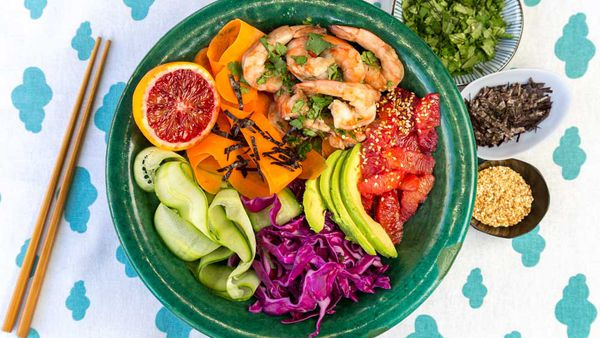 Redbelly Citrus healthy poke bowl