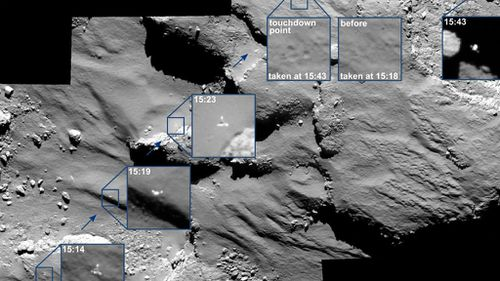 New images show Philae probe's historic comet bounce