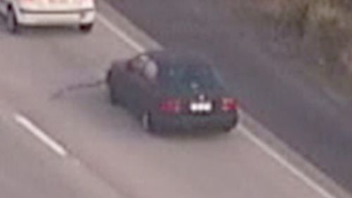 Police pursued the car down the M1. (9NEWS)