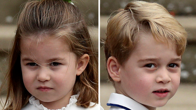 Prince Charlotte and Prince George at a wedding