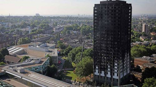 An expert found the cladding on London's Grenfell Tower helped spread fire. (AP)