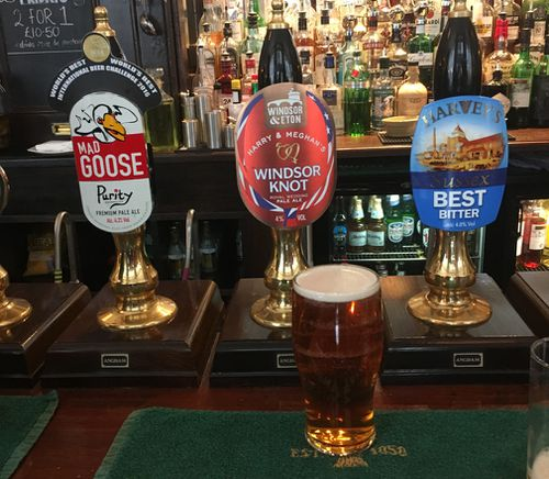 There is a specially brewed beer called The Windsor Knot. (Supplied)