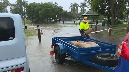 Sandbags are being handed out in Coffs Harbour