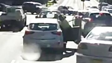 Car left blood-spattered in road rage attack