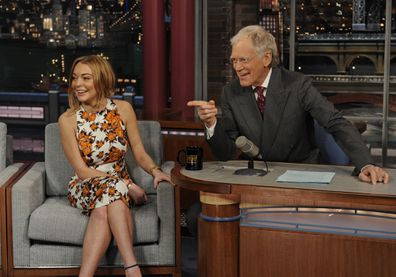 Linsday Lohan, David Letterman